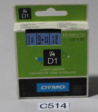 Dymo D1 Schriftband-Kassette 12 mm x 7m Schwarz/Blau (C514-R43)
