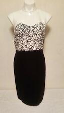 ANN TAYLOR LOFT Black & White Two Tone Dress Size 6