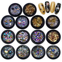 3D Rhinestones Nail Art Crystal Holographic UV Gel Decoration Japanese Design