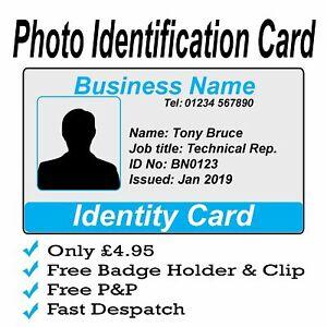 Custom Photo ID Card   Personalised Identity Card   Free P&P