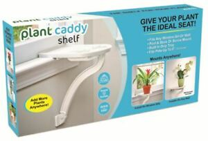 Plant Caddy Shelf: Indoor Peel & Stick Window Sill Plant Pot Holder Shelf - TV