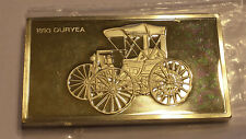 1893 Duryea Franklin Mint Collectible Cars 2 troy oz  Sterling .925 Silver Ingot