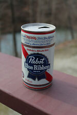 Vintage Empty 12 oz Pabst Blue Ribbon Beer PBR Pull Tab Can