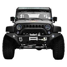 Jeep 07-16 JK Wrangler Black Textured Full Width Front Bumper+D-Ring+Winch Plate