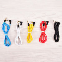 3.5mm Male to M Aux Cable Cord L-Shaped Right Angle Car Audio Headphone Jack BH