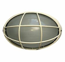 LED compatible outdoor caged wall mounted cream house / landscape bunker light