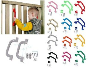 Pair Of Plastic Handles 240x75mm Kids Hand Grips For Climbing Frame Playhouse