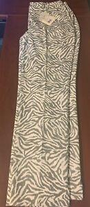 NWT Fairway & Greene Ladies size 12 Porcini Audrey Zebra Golf Pants New E12285