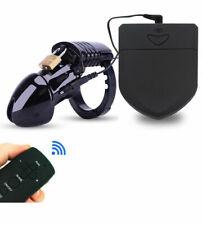 Male Electro Shock Chastity Cage 20M Wire Remote Control E-stim Device Locking