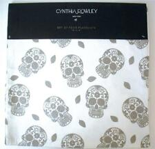 Cynthia Rowley Silver Skull Square Table Placemats 15x15