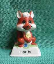 "1979 Russ Berrie ""I Love You"" Fox Figurine Euc #813"