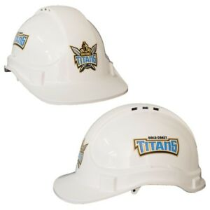 New NEW NRL Titans Light Weight Vented Safety Hard Hat: White Merchandise