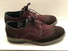 Men's Ted Baker Brogues Suede Dark Brown/burgundy shoe  Size US 9, UK 8, EUR 42
