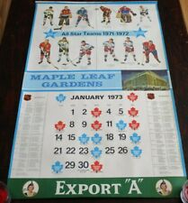 "Export ""A""  Maple Leaf Gardens Calendar Page All-Star Teams 1971 - 1972"