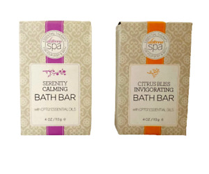 Doterra Spa Essential Therapy Citrus Bliss & Serenity Calming Bath Bar Soap Exp