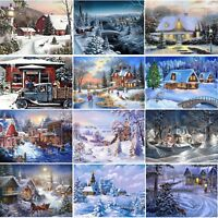 Christmas Snow 5D Diamond Painting Cross Stitch Embroidery Art Craft Home Decor