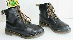 Vintage Dr. Martens Men's Boots Black Leather 8 Eye US Size 10. (UK 9) England