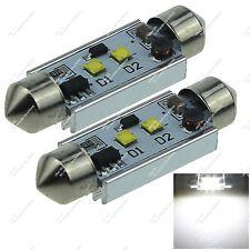 2X 41MM 211 212 2 Cree LED Festoon Roof Lamp AC/DC 12-24V Non-polar Auto ZI327