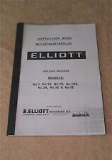 Elliott Progress Drilling Machines Manual