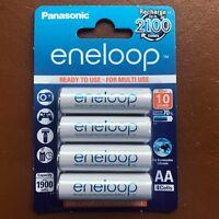 4 x Panasonic eneloop AA 1900 mAh Rechargeable Batteries ready NiMH HR6 BK-3MCCE