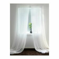 IKEA LILL Pair of Long Sheer Floaty White Net Curtains 280 x 250cm FREE POST