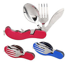 Camping Utensil Set Knife Fork Spoon 3 in 1 Travel Hiking Gadget Outdoor