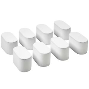 Set of 8 White Velvet Watch Bracelet Pillows for Case Box  Display Stand