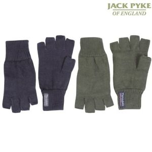 JACK PYKE MENS FINGERLESS GLOVES 100% ACRYLIC THINSULATE LINING SHOOTING MITTS