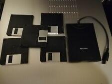 Unità Floppy Disc Esterna USB Toshiba PA3214U-2FDD +5 dischi