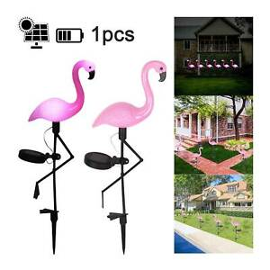 Solar Powered Flamingo Lawn Lamp Garden Decor Outdoor Stake Landscape Led Lights
