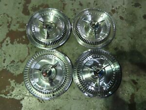 1965 65 FORD THUNDERBIRD T BIRD SPINNER DELUXE HUBCAP WHEEL COVER SET OEM