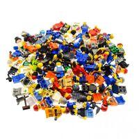 10 x Lego System City Mini Figuren Town City Figur Mann Frau Minifiguren mit Zub