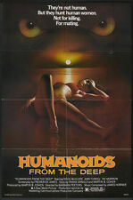 HUMANOIDS FROM THE DEEP original one sheet Monster movie poster DOUG MCCLURE