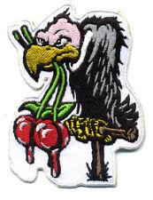 Vulture Buzzard cherry patch badge hot rod motorcycle jacket vest rockabilly