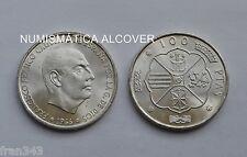 MONEDA DE 100 pesetas 1966 (67) Franco plata SC /  SPAIN KM#797 UNC