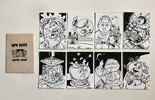 Garbage Pail Kids Original Art Set of 8 Sketch Cards by GPK Dave Dabila