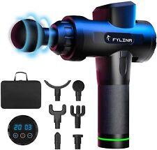 FYLINA Handheld Muscle Massage Gun, 20 Speeds Deep Tissue Massager with 6 Heads