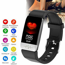 Smart Watch Body Thermometer Oximeter Heart Rate Monitor Fitness Bracelet IP67/