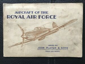 CIGARETTE CARDS - AIRCRAFT OF THE ROYAL AIR FORCE  IN ALBUM - PLAYERS 1938