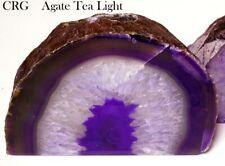 Purple Agate Geode Tea Light Candle Holder (Can5-purp)