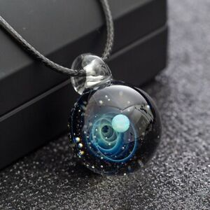 GiftJewelryShop Kiss Me Im Irish Crescent Moon Galactic Universe Glass Cabochon Pendant Necklace