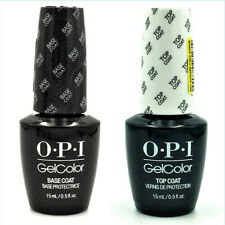 OPI GelColor GC 010 Base Coat & GC 030 Top Coat 15mL   0.5oz UV LED Gel Polish