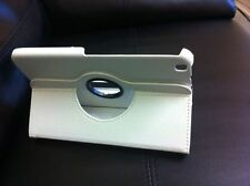 "White 360 Rotating Leather Case Cover Stand for Samsung Galaxy Tab 3 8"" P8200"