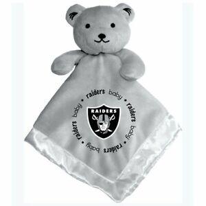 Las Vegas Raiders Gray Baby Security Bear Blanket, NFL Licensed