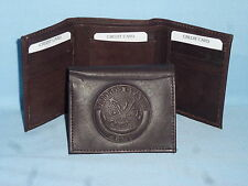 UNITED STATES ARMY   Leather TriFold Wallet    NEW    dkbr 3  m1