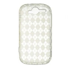 For T-Mobile myTouch 4G TPU CANDY Hard Gel Flexi Case Phone Cover Clear Plaid
