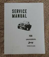 1945-1965 Jeep CJ-2A CJ-3 CJ-3B CJ-5 CJ-6 DJ-3A Service Repair Manuale Menta