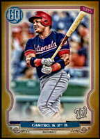 Starlin Castro 2020 Topps Gypsy Queen 5x7 Gold #259 /10 Nationals