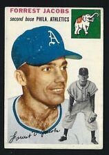 Forrest Jacobs-1954 Topps Baseball Card # 129-Philadelphia Athletics 2nd Baseman