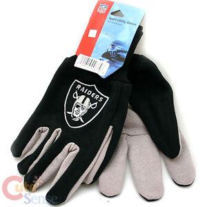 Oakland Raiders  Sports Utility Gloves NFL Men's Work  Gloves Non Skid